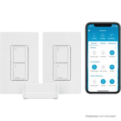 Lutron Caseta Wireless Smart Lighting Switch (2 Count) Starter Kit